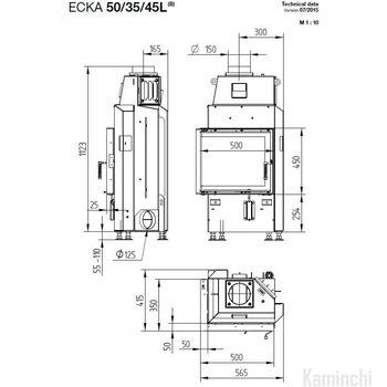Каминная топка - HOXTER ECKA 50/35/45 L/R