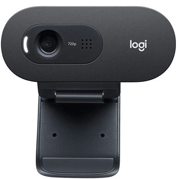 Logitech C505e HD Business Webcam, HD 720p 30fps video, Diagonal Field of View 60 degrees, RightLight 2, Noise Cancelling Mic omni-directional long range pickup, 960-001372