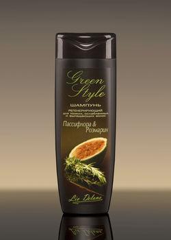 купить Регенерирующий шампунь «Пассифлора&Розмарин» для тонких, ослабленных и выпадающих волос  Green style в Кишинёве
