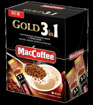 MacCoffee 3в1 freeze dried Gold (20пак в упаковке)
