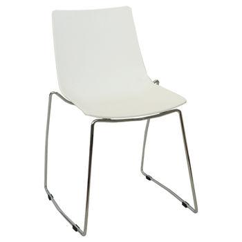 купить Пластиковый стул, хромированные ножки 540x630x830 мм, белый в Кишинёве