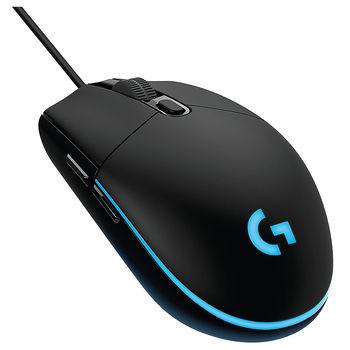Logitech Gaming Mouse G203 Prodigy LIGHTSYNC RGB lighting, 6 Programmable buttons, 200- 8000 dpi, Black, 910-005796
