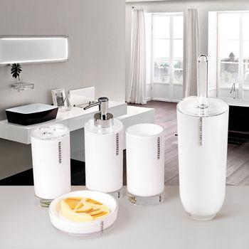 купить Гарнитур для туалета DIAMOND WHITE, акрил и стразы 12431 в Кишинёве