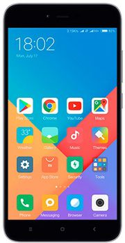 "Xiaomi RedMi Note 5A EU 16GB Dark Grey, DualSIM, 5.5"" 720x1280 IPS, Snapdragon 425, Quad-Core 2.0GHz, 2GB RAM, Adreno 308, microSD (dedicated slot), 13MP/5MP, LED flash, 3080mAh, WiFi-N/BT4.2, LTE, Android 7.0 (MIUI9), Infrared port"