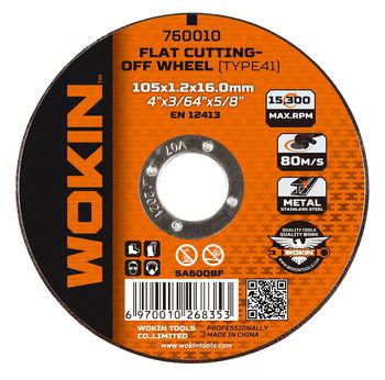 Диск отрезной по металлу 125x1.2x22mm Wokin