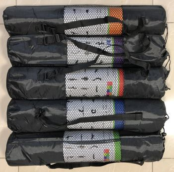 Коврик для йоги с чехлом 173х60х0.6 см PVC  (3730)