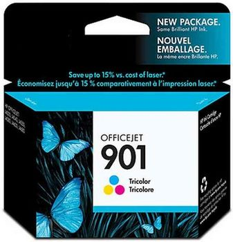 HP No.901 Tri-Colour Ink Cartridge for Officejet J4580, 9ml (360pages)