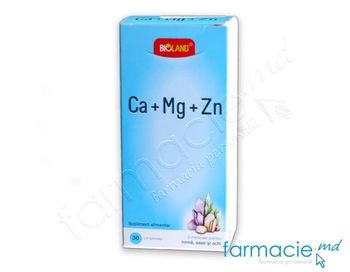 купить Calciu+Mg+Zn BIOLAND N30 в Кишинёве