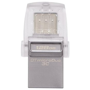 128GB USB3.1 Kingston DataTraveler MicroDuo, Ultra-small, USB OTG Type C (On-The-Go), (Read 100 MByte/s, Write 15 MByte/s)