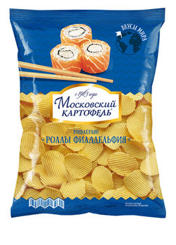 "Chips-uri ""Moscovskii Kartofeli"" Roll Filadelphia 150g"