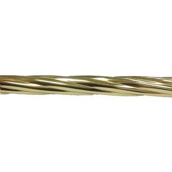 Delfa Труба карнизная рифленая золотистая 2,4м
