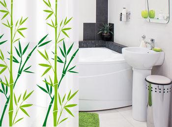купить Штора для ванной комнаты Tatkraft BAMBOO GREEN Textile 18013 в Кишинёве