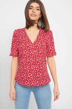 Блуза ORSAY Красный с принтом 663563