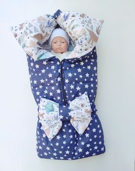 Конвертик трансформер для новорожденных PAMPY Dark Blue Stars