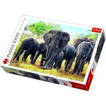 """Пазлы """"1000"""" - """"African elephants"""", код 40519"""