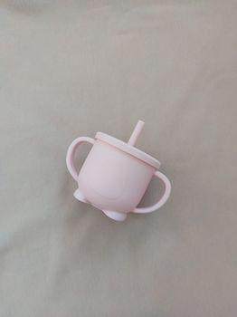 Силиконовый стаканчик розовый