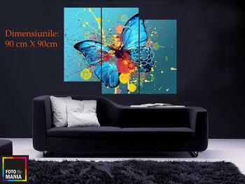 Картина напечатанная на холсте - Триптих Бабочка 0002