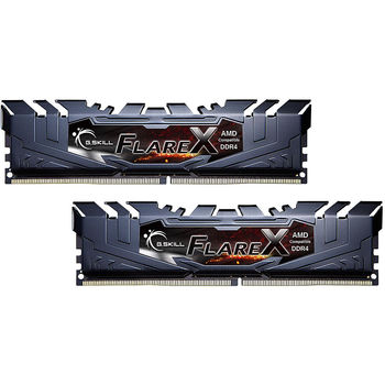 32GB DDR4 Dual-Channel Kit G.SKILL FlareX F4-3200C16D-32GFX 32GB (2x16GB) DDR4 PC4-25600 3200MHz CL16, Retail (memorie/память)