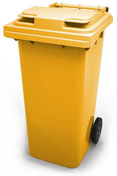 cumpără Tomberon pentru deşeuri 240 l, galben în Chișinău