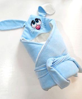 Конвертик с уголком 90*90 см with Blue Rabbit