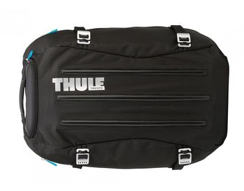 THULE Travel Bag - Crossover 40L Duffel Pack, Black, Safe-zone, Dobby Nylon, Dimensions 38.5 x 30.5 x 52.5 cm, Weight 1.2 kg, Volume 40L, Hybrid backpack/duffel with backpanel access ensures security of the gear inside.