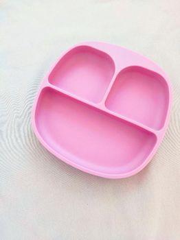 Тарелочки с 3-мя секциями Dark Pink