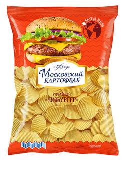 """Чипсы """"Московский Картофель"""" Чизбургер 150г"""