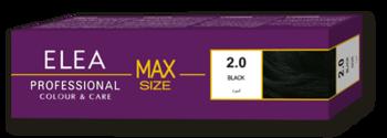 Краска для волос,SOLVEX Elea Max, 100 мл., 2.0 - Чёрный