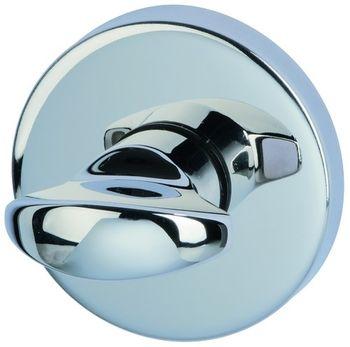 Дверная ручка на розетке Arena полированный хром + накладка WC