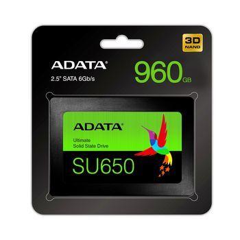 2,5-дюймовый твердотельный накопитель SATA, ADATA Ultimate SU650, 240 ГБ [R / W: 520/450 МБ / с, 40/75 000 операций ввода-вывода в секунду, MK / SMI, 3D-NAND TLC]