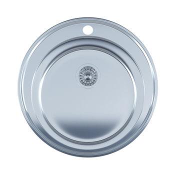 купить Мойка кухонная нержавеющая 0,8мм(satin) Ø 51 см (510) в Кишинёве