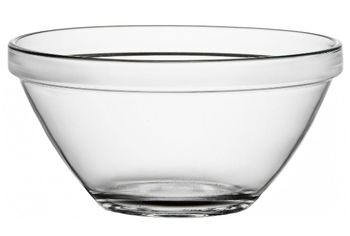Салатница стеклянная Pompei 1l, D17cm