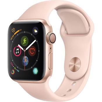 Apple Watch Series 4 40mm Smartwatch (GPS Only, Gold Aluminum, Pink Sand Sport Loop)