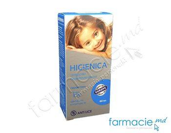 cumpără Higienica (permetrin) 1% sol 60ml + pieptene (contra paduchilor) în Chișinău