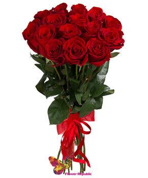 купить Бордовые розы 80-90СМ Поштучно в Кишинёве