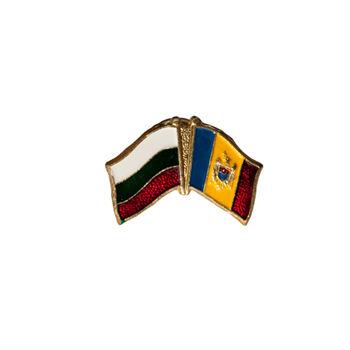 купить Значок - Флаг Болгария & Молдова в Кишинёве