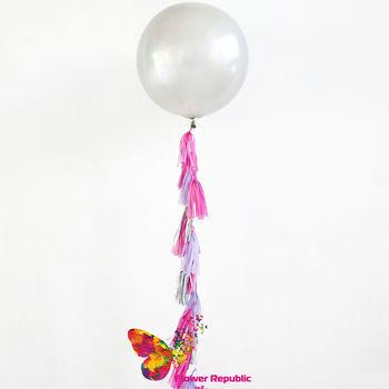 купить Большой латексный серебряный шар 91 см с гирляндой тассел в Кишинёве
