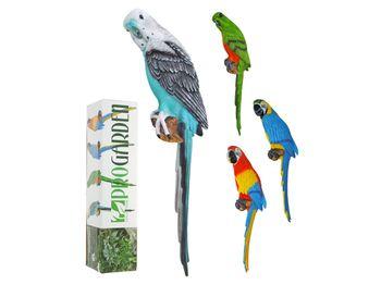 Попугай декоративный H45cm, 12X8cm, 4цвета