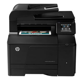 MFP HP LaserJet Pro 200 Color M276n Print/Scan/Copy/Fax, Up to 14ppm, 600dpi, 256 MB Memory, Up to 30,000 pages, 35-sheet ADF, 8.9 cm touchscreen display, Scan to e-mail, HP ePrint, Hi-Speed USB 2.0, Fast Ethernet 10/100Base-TX (1800p)