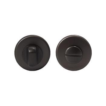 Дверная ручка на розетке Corsa матовый черный + накладка WC