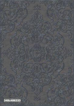 """Ковёр F-SHE 348с486333 """"Темно-серый классический орнамент"""""""