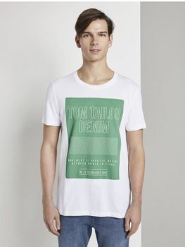Майка TOM TAILOR Белый/ зеленый 1017288 tom tailor