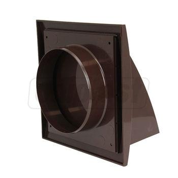 купить Выход стенной вытяжной с обратным клапаном 190 x190 с фланцем Ø125mm (коричневый) ND12FVB Europlast в Кишинёве