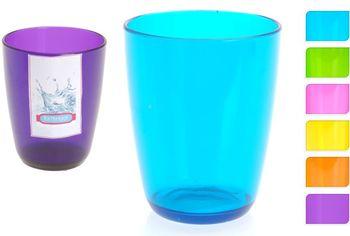 Стакан для зубных щеток, прозр, разных цветов