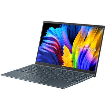 "Laptop 14"" ASUS ZenBook 14 UM425UA Pine Grey, AMD Ryzen 5 5500U 2.1-4.0Ghz/8GB/SSD 512GB M.2 NVMe/AMD Radeon Vega 7 Graphics/WiFi 6 802.11ax/BT5.0/HDMI/HD WebCam/Illum. Keyb./Number Pad/14"" IPS LED Backlit FullHD NanoEdge (1920x1080)/DOS UM425UA-AM006"