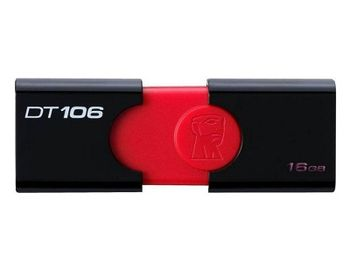 16GB USB3.0 Kingston DataTraveler 106 Black, Retractable USB connector, (Read 70 MByte/s, Write 12 MByte/s)