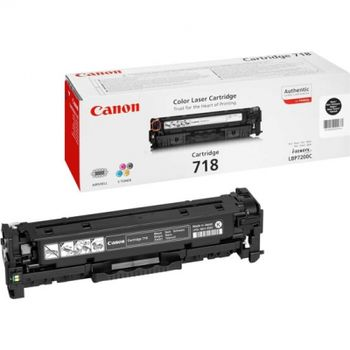 Cartridge Canon 718 black (3400 pages) for LBP-7200Cdn, MF8540Cdn/8330Cdn/8350Cdn