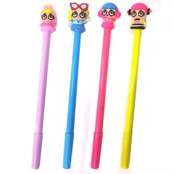 """Ручка масленая  синяя, 0,5мм,  """"Кукла""""  Рандом"""