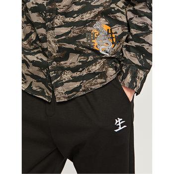 Рубашка RESERVED Черный/Серый sd972-90x