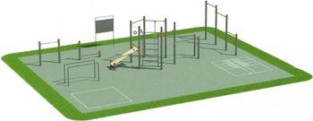 Спортивная площадка на хомутах K-3